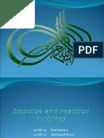 Impulse and Reaction Turbines