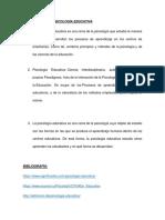 Definiciones de Psicología Educativa