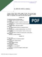 10 Años de La Revista Crítica Jurídica
