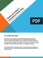 Teoria de Cores e Tipografia Para Web