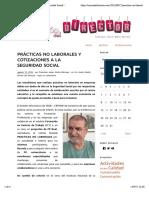 Prácticas no laborales y cotizaciones a la Seguridad Social PRACTICAS FCT