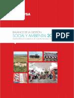 Balance de La Gestion Social y Ambiental Ano 2013