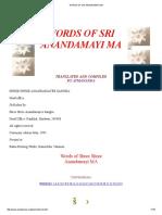 Words of Sri Anandamayi Ma
