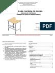 Manual de Confecção - Mesa Para Cadeira de Rodas (Regulável Em Altura Por Sistema de Pinos)