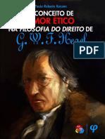 KONZEN, Paulo Roberto, O Conceito de Amor Ético Na Filosofia Do Direito de G. W. F. Hegel