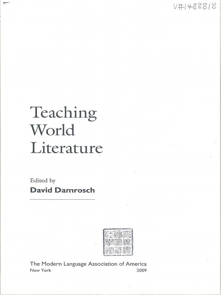 David Damrosch-Teaching World Literature-The Modern Language Associacion of  America   Translations   Western World 4226b6671bf0