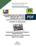 Determinacion de Diametro de Fibra Por El Metodo Del Flujometro Terminado (1)