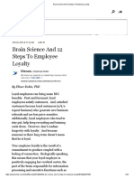 Brain Science and 12 Steps to Employee Loyalty