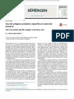 Uso Del Antígeno Prostático Específico en Atención