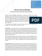 Book Review- Service Marketing