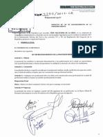 PROYECTO DE LEY DE RECONOCIMIENTO DE LA  PROFESION MEDICA pl0225020171212