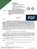 Sentença Judicial da Eleição do Sindicato Rural de Petrolina