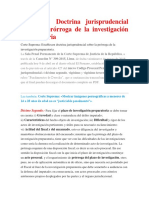 Casación Doctrina Jurisprudencial Sobre La Prórroga de La Investigación Preparatoria