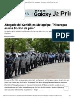 """Abogado Del Cenidh en Matagalpa_ """"Nicaragua Es Una Ficción de País"""""""