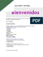 Sistema Escolar PHP Y MYSQL