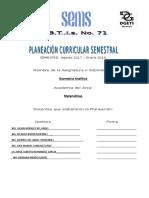 Planeacióbn Curric. Geometria Analitica Parcial 2