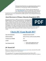 JSC Result 2017 – Education Board Result 2017 (Www.educationboardresults.gov.Bd)