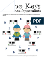Christmas Music Worksheets Peppermint Piano Keys