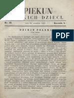Opiekun Polskich Dzieci. R.1, Nr 10 (30 Września 1867)