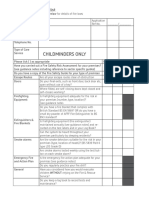 Fire Safety Checklist Childminders
