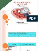 hipertensión arterial sesión clase
