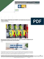 Entra en Vigor El Real Decreto 513_2017, De Instalaciones de Protección Contra Incendios