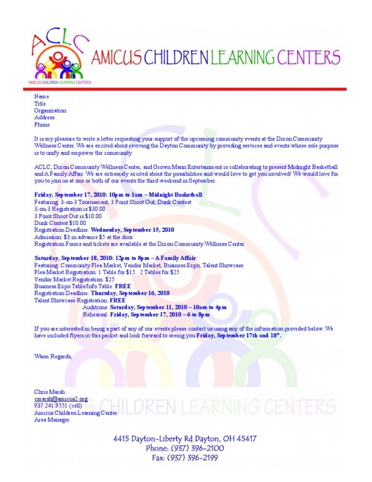 participation request letter