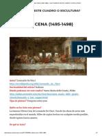La Ultima Cena (1495-1498) – Que Significa Este Cuadro o Escultura