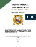 Elder Lopez Jara-unmsm Proyecto de Investigación
