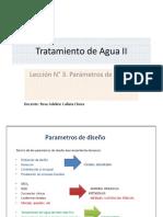Leccion N° 3 Parametros de diseño