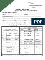 Modulo Domanda Iscrizione Nidi 17-18