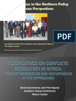Perspectives 0f Conflict Resolution in Africa