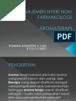 Manajemen Nyeri Non Farmakologi Aromaterapi
