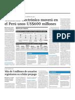Comercio electrónico en el Perú movera unos 600 millones de dólares