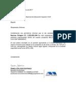 Carta Aprobacion de Practicas Por La Compañia