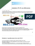 Tipos de Redes y Estándares Wi-Fi, Sus Diferencias
