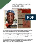 baseball card project