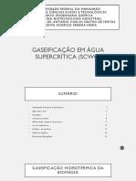 Biotecnologia Industrial - Gaseificação Em Água Supercrítica (SCWG)