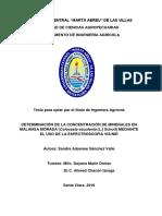 DETERMINACIÓN DE LA CONCENTRACIÓN DE MINERALES EN MALANGA MORADA (Colocasia esculenta (L.) Schott) MEDIANTE EL USO DE LA ESPECTROSCOPIA VIS/NIR