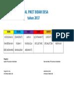 Jadwal Piket Bidan 2017