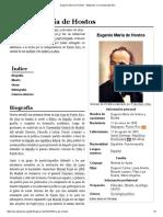 Eugenio María de Hostos - Wikipedia, La Enciclopedia Libre