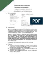 Silabo Química y Fertilidad Del Suelo CGH 2017-II