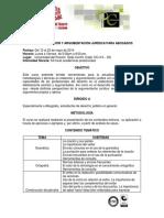 Programa Curso Redaccion y Argumentacion Juridica Para Abogados