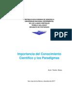 Importancia Del Conocimiento Cientifico y Los Paradigmas