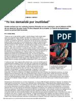"""Página_12 __ Espectaculos __ """"Yo Los Demandé Por Inutilidad"""""""