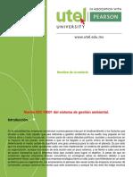 Tarea 5. Norma ISO 14001 Del Sistema de Gestión Ambiental.