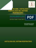 Histología y Embriología  Sistema Respiratorio