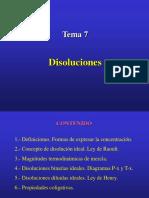 Tema Soluciones Ideales y Prop Coligativas