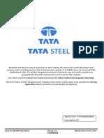Tata Steel Application Form(Chandra Sekhar)