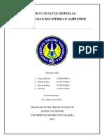 Laporan Praktek Sistem Ac Amp